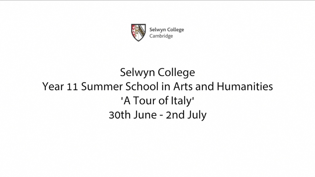 Selwyn College Year 11 Summer School in Arts and Humanities - A Tour of Italy's image